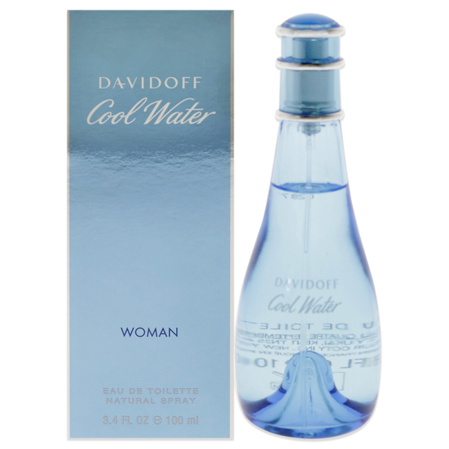 Cool Water by Zino Davidoff for Women - 3.4 oz EDT Spray