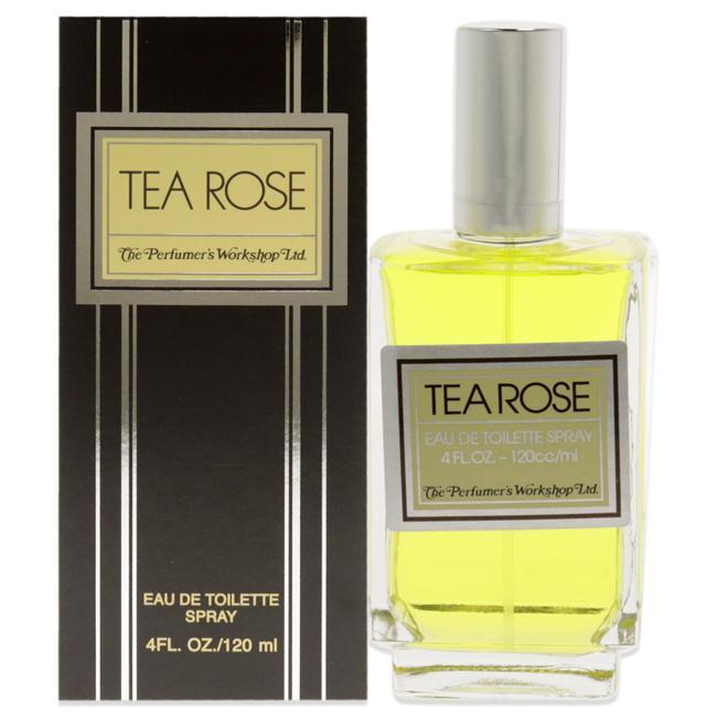 Tea Rose by Perfumer's Workshop for Women - 4 oz EDT Spray