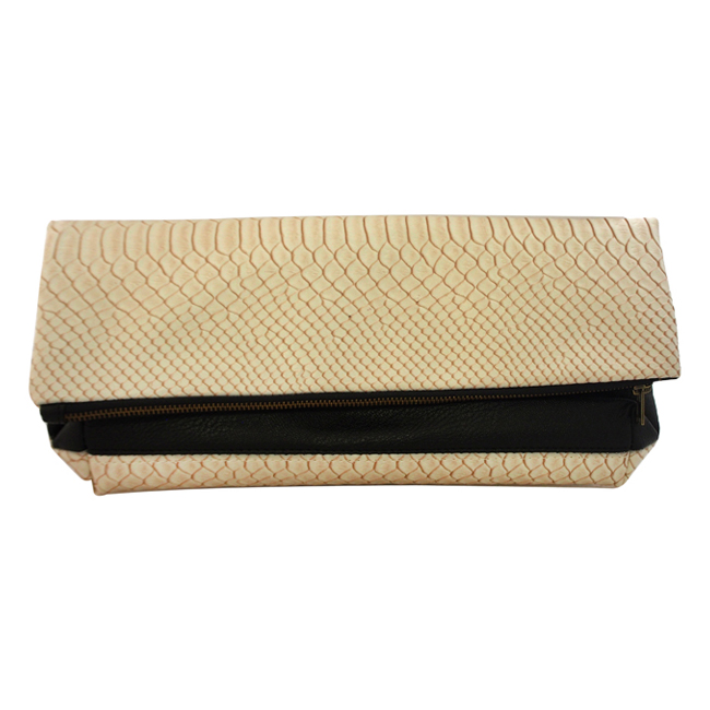 Color Block Fold-Over Clutch by T3 for Women - 1 Pc Bag