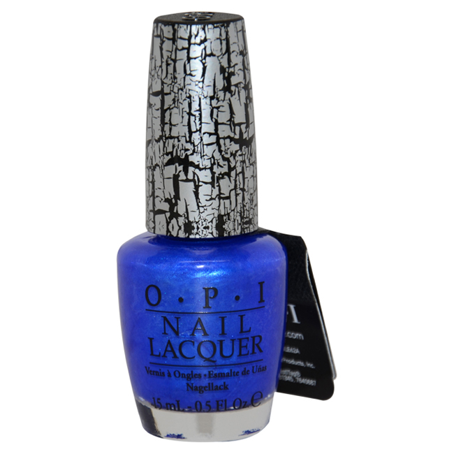 Nail Lacquer # NL E56 Blue Shatter by OPI for Women - 0.5 oz Nail Polish