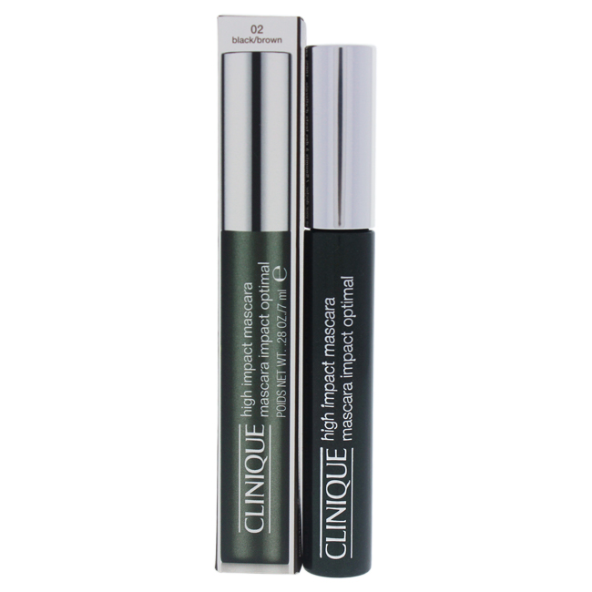High Impact Mascara Dramatic Lashes On-Contact - #02 Black/Brown by Clinique for Women - 0.28 oz Mascara