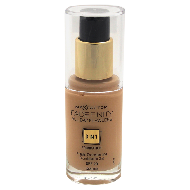 Facefinity All Day Flawless 3 In 1 Foundation SPF20 - # 60 Sand by Max Factor for Women - 30 ml Foundation