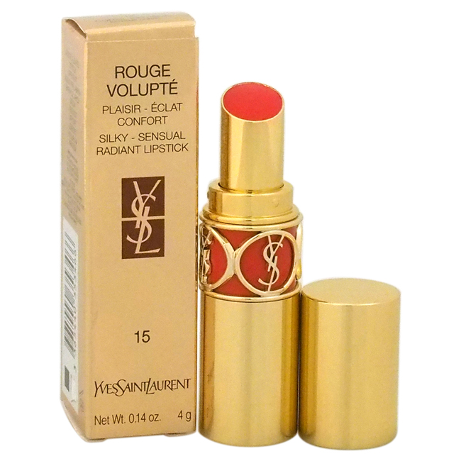 Rouge Volupte Silky Sensual Radiant Lipstick - # 15 Extreme Coral by Yves Saint Laurent for Women - 0.14 oz Lipstick