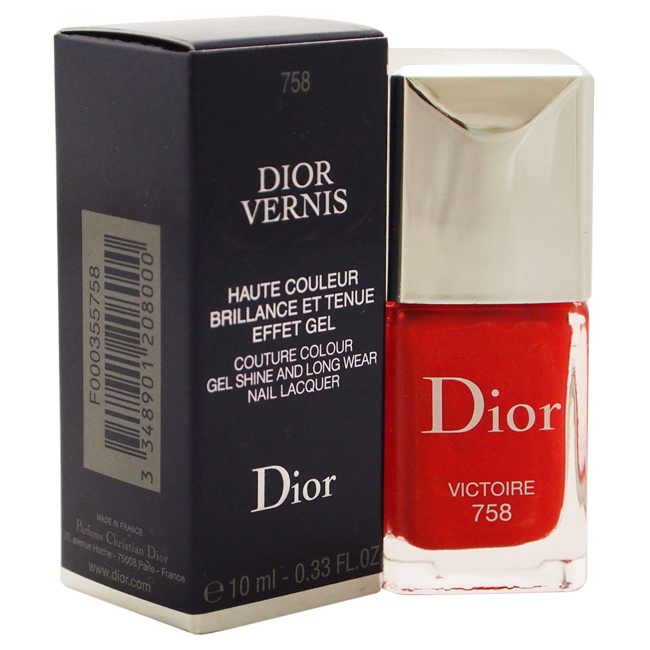 Dior Vernis Couture Colour Gel Shine and Long Wear Nail Lacquer - # 758 Victoire by Christian Dior for Women - 0.33 oz Nail Polish