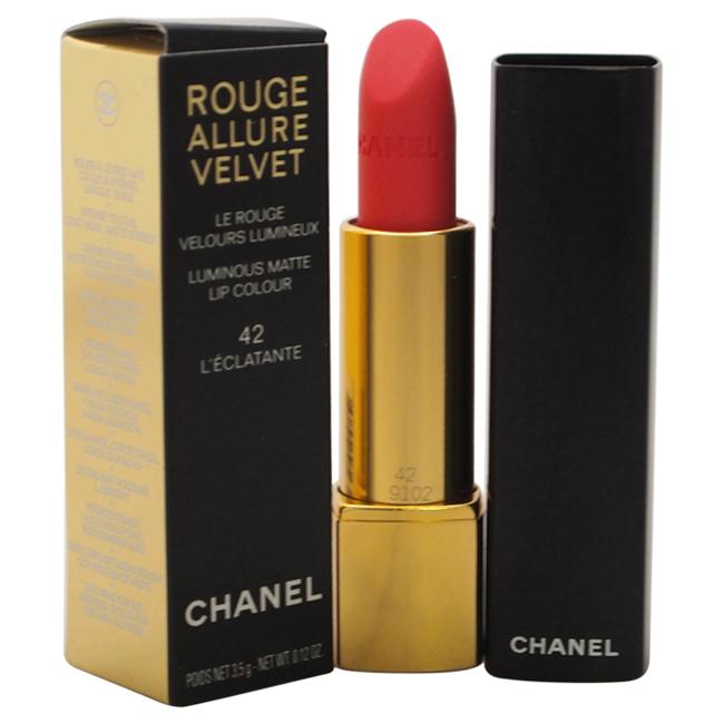 Rouge Allure Velvet Luminous Matte Lip Colour - # 42 L'Eclatante by Chanel for Women - 0.12 oz Lipstick