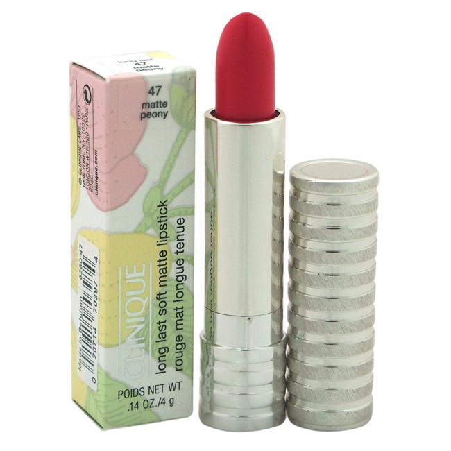 Long Last Soft Matte Lipstick - # 47 Matte Peony by Clinique for Women - 0.14 oz Lipstick