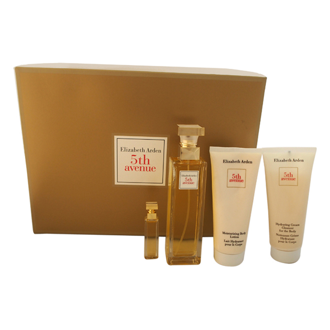 5th Avenue by Elizabeth Arden for Women - 4 pc Gift Set 2.5 oz EDP Spray, 0.12 oz Perfume Extract, 3.3 oz Body Lotion, 3.3 oz Hydrating Cream Body Cleanser