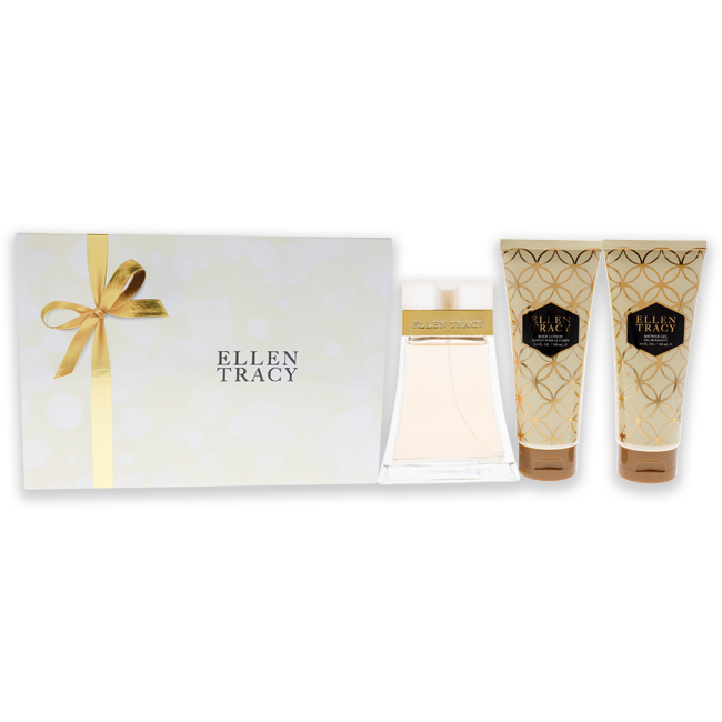 Ellen Tracy by Ellen Tracy for Women - 3 Pc Gift Set 3.4oz EDP Spray, 3.4oz Body Lotion, 3.4oz Shower Gel