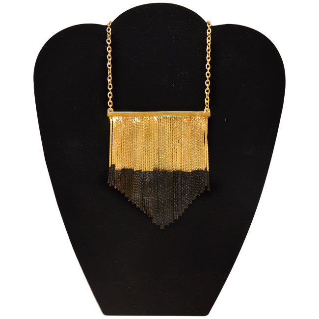 Cocktail Fringe Necklace in Gold/Black by CC Skye for Women - 1 Pc Necklace