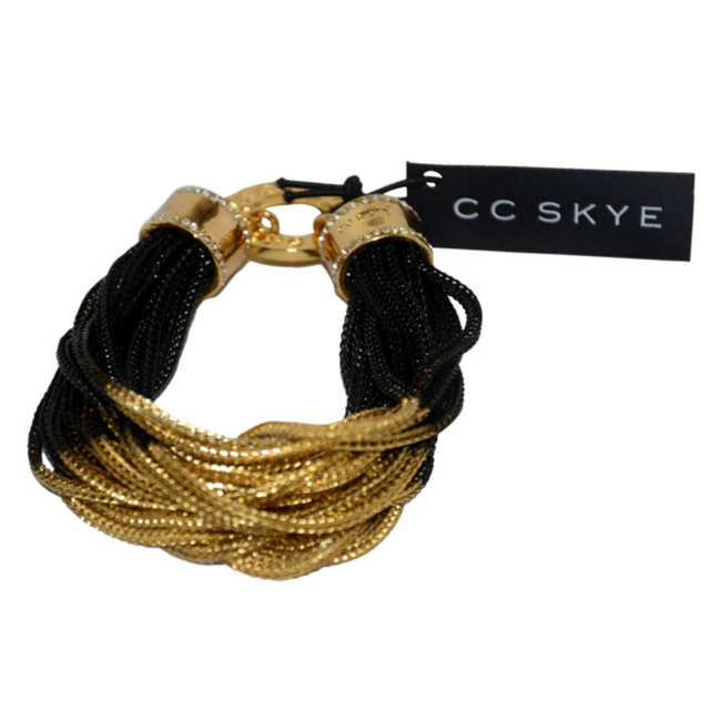 Midnight Bracelet in Black/Gold by CC Skye for Women - 1 Pc Bracelet