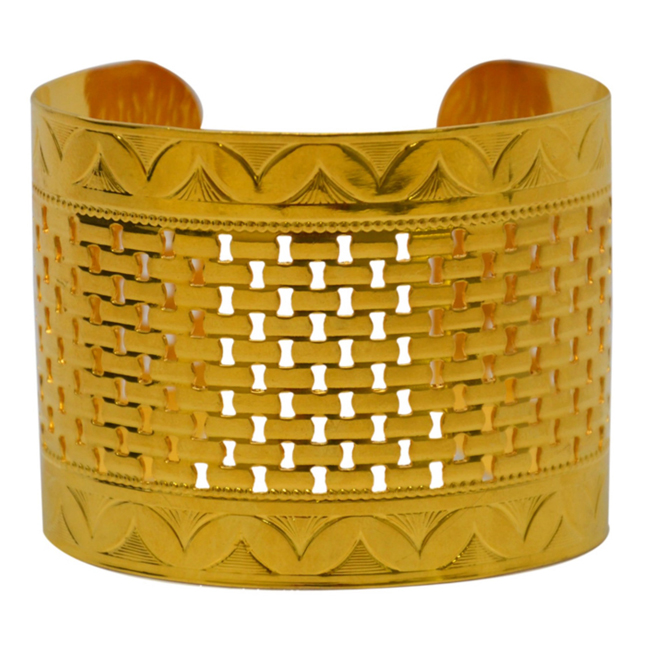 Odessa Cuff in 18k Gold Plated by Laruicci for Women - 1 Pc Cuff