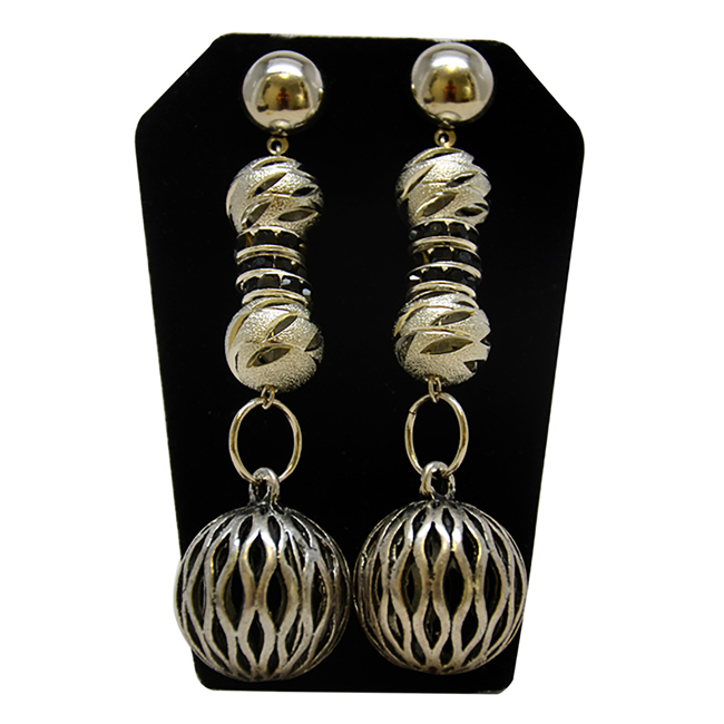 Miroslava Earrings in Sterling Silver by Laruicci for Women - 1 Pair Earrings