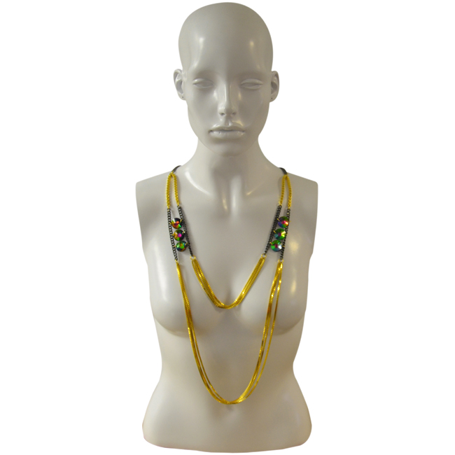 Festa Necklace in 18k Gold Plated by Laruicci for Women - 1 Pc Necklace