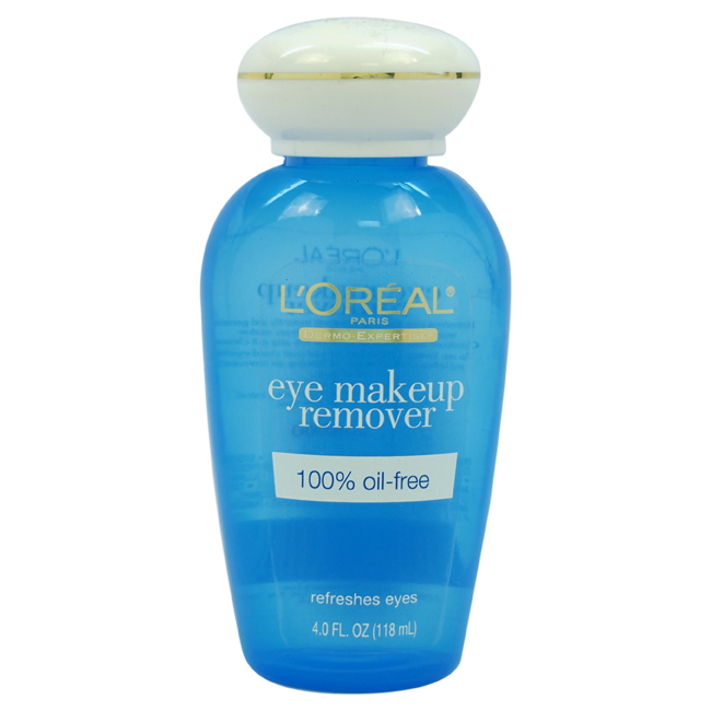 Dermo-Expertise Eye Makeup Remover Expertise Refresh by L'Oreal Paris for Women - 4 oz Makeup Remover