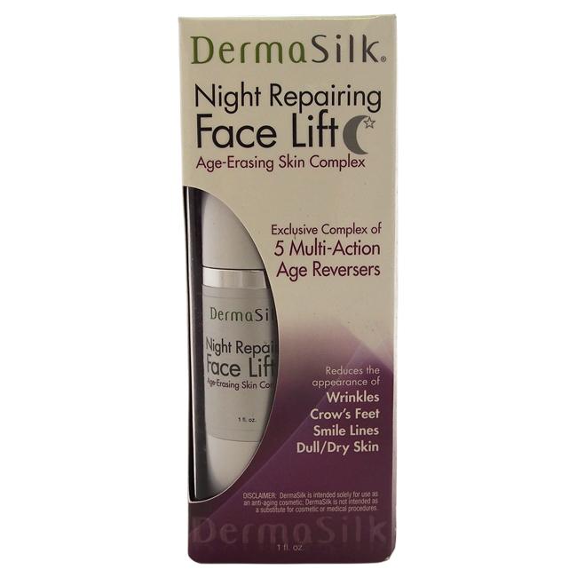 Night Repairing Face Lift by DermaSilk for Women - 1 oz Anti-Aging Cream