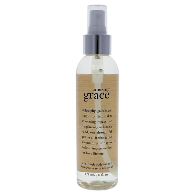 Amazing Grace Satin-finish Body Oil Mist by Philosophy for Women - 5.8 oz Body Spray