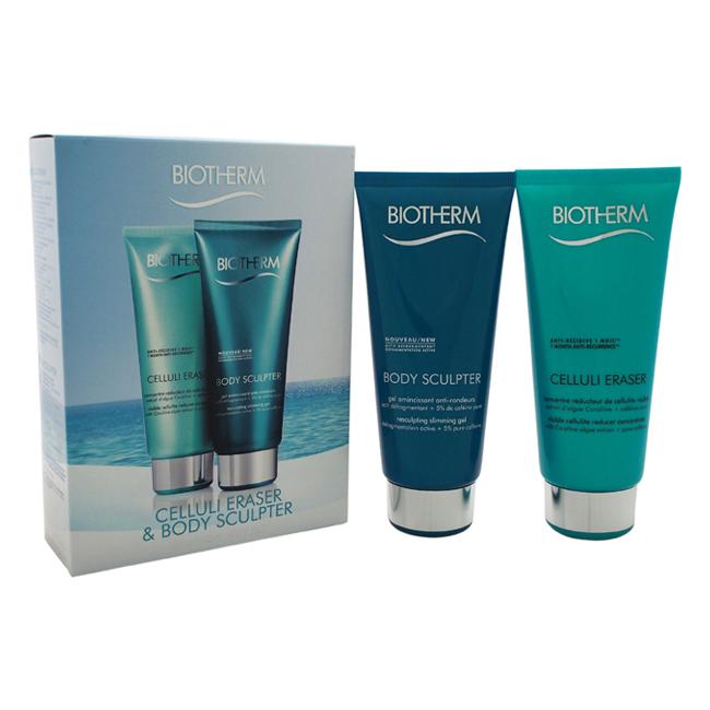 Celluli Eraser & Body Sculpter Kit by Biotherm for Women - 2 Pc Kit 6.76oz Celluli Eraser, 6.76oz Body Sculpter