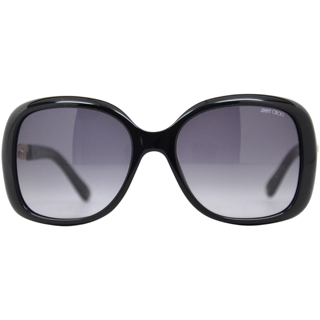 Jimmy Choo Wiley/S 0BMB Shiny Black by Jimmy Choo for Women - 56/18/135 mm Sunglasses