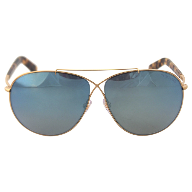 Tom Ford FT0374 Eva 28X - Rose Gold/Blue by Tom Ford for Women - 61-10-140 mm Sunglasses