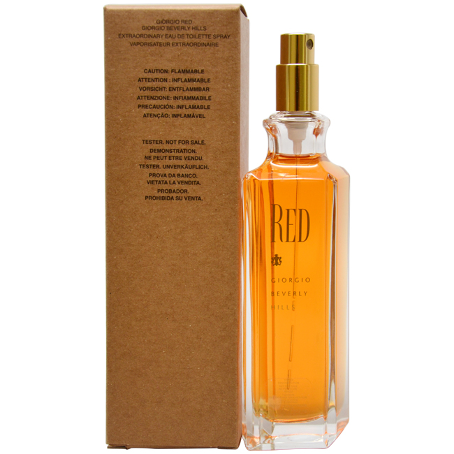 Red by Giorgio Beverly Hills for Women - 3 oz EDT Spray (Tester)