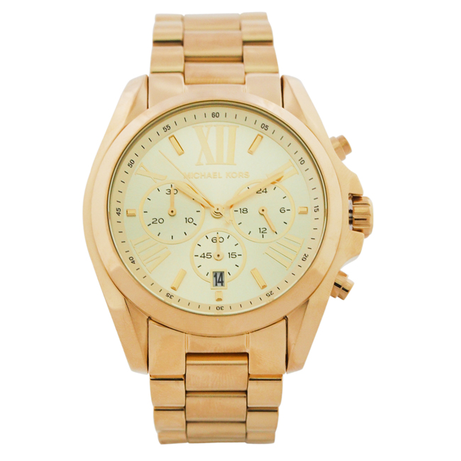 MK5605 Bradshaw Gold-Tone Watch by Michael Kors for Women - 1 Pc Watch