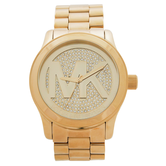 MK5706 Runway Logo Rose Gold-Tone Watch by Michael Kors for Women - 1 Pc Watch