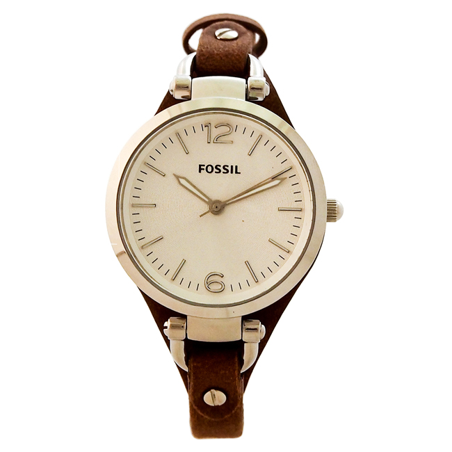 ES3060P Georgia Brown Leather Watch by Fossil for Women - 1 Pc Watch