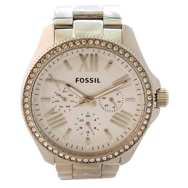 AM4481P Cecile Multifunction Stainless Steel Watch by Fossil for Women - 1 Pc Watch