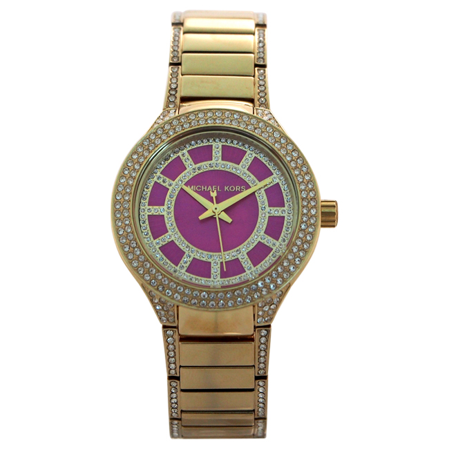 MK3442 Mini Kerry Gold-Tone Stainless Steel Bracelet Watch by Michael Kors for Women - 1 Pc Watch