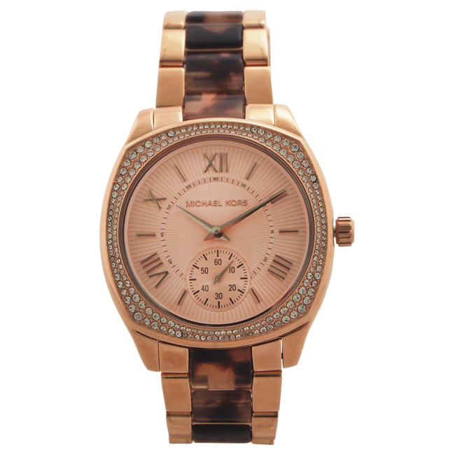 MK6276 Bryn Rose Gold-Tone and Tortoise Acetate Watch by Michael Kors for Women - 1 Pc Watch
