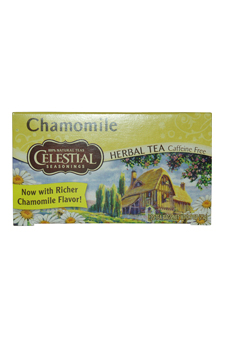 Chamomile Herbal Tea Caffeine Free by Celestial Seasonings for Unisex - 20 Pc Tea Bags