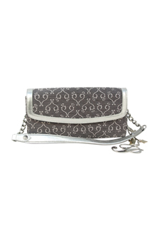 PH Desire Line Hand Bag Style# BADE5711 Colour#White Gray Silver Mirrored P Logo by Paris Hilton for Women - 1 Pc Hand Bag