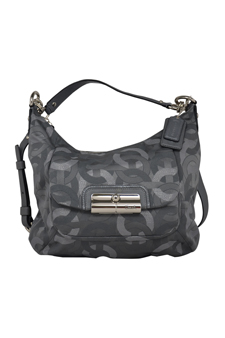 18295 Kristin Chainlink Lurex Hobo Bag - SV/Gunmetal by Coach for Women - 1 Pc Bag