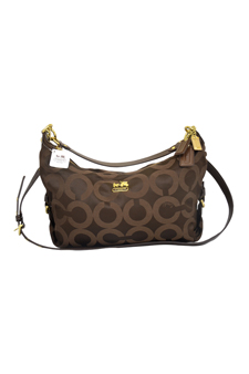 18801M Madison OP Art Hailey Brown Hobo Bag by Coach for Women - 1 Pc Bags
