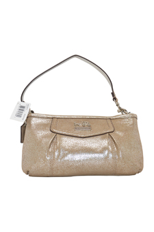 44361 Madison Leather Large Wristlet Bag - SV/Shimmer by Coach for Women - 1 Pc Bag