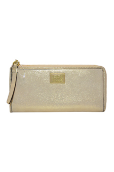 46070 Poppy Leather Zip Around Wallet Bag - B4/Gold by Coach for Women - 1 Pc Bag