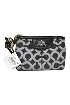 46663 Madison Lurex Op Art Bag - SV/Gunmental Black/Black by Coach for Women - 1 Pc Bag