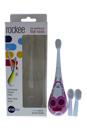 Rockee The Toothbrush That Rocks # - VRT157B Bessie by Violife for Kids - 3 Pc Set Rockee Toothbrush, 2 Additional Brush Heads