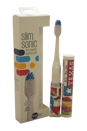 Slim Sonic Electric Toothbrush - # VS2T605 Texas by Violife for Unisex - 3 Pc Set Toothbrush, Additional Brush Head, AAA Battery