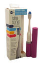 Slim Sonic Electric Toothbrush - # VSS103 Purple by Violife for Unisex - 3 Pc Set Toothbrush, Additional Brush Head, AAA Battery