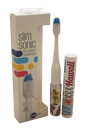 Slim Sonic Electric Toothbrush - # VS2T606 Hawaii by Violife for Unisex - 3 Pc Set Toothbrush, Additional Brush Head, AAA Battery