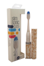 Slim Sonic Electric Toothbrush - # VS2T714 Flourish by Violife for Unisex - 3 Pc Set Toothbrush, Additional Brush Head, AAA Battery