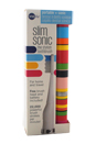 Slim Sonic Electric Toothbrush - # VSS154 Candy Stripe by Violife for Unisex - 3 Pc Set Toothbrush, Additional Brush Head, AAA Battery