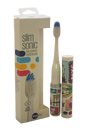 Slim Sonic Electric Toothbrush - # VS2T600 New York City by Violife for Unisex - 3 Pc Set Toothbrush, Additional Brush Head, AAA Battery