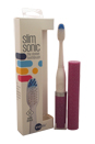 Slim Sonic Electric Toothbrush - # VS2T708 Orchid Shimmer by Violife for Unisex - 3 Pc Set Toothbrush, Additional Brush Head, AAA Battery