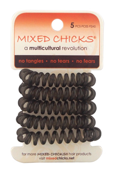 Spring Bands - Light Charcoal by Mixed Chicks for Unisex - 5 Pc Hair Bands