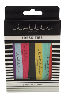Lottie Tress Ties by Lottie London for Women - 6 Pc Set Ties
