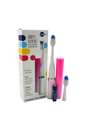 Slim Sonic Electric Toothbrush - # VSS108 Cotton Candy by Violife for Unisex - 3 Pc Set Toothbrush, Additional Brush Head, AAA Battery