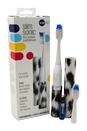 Slim Sonic Electric Toothbrush - # VSS167 White Leopard by Violife for Unisex - 3 Pc Set Toothbrush, Additional Brush Head, AAA Battery