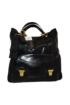 10380M Patent Leather Gallery Tote - SV/Cashmere by Coach for Women - 1 Pc Bag